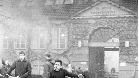 Brand på Gl. Holte Skole 1967