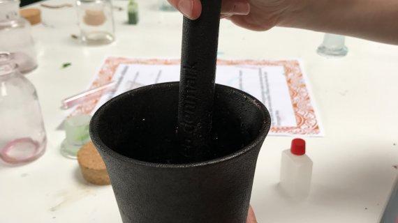 Ingredienserne knuses