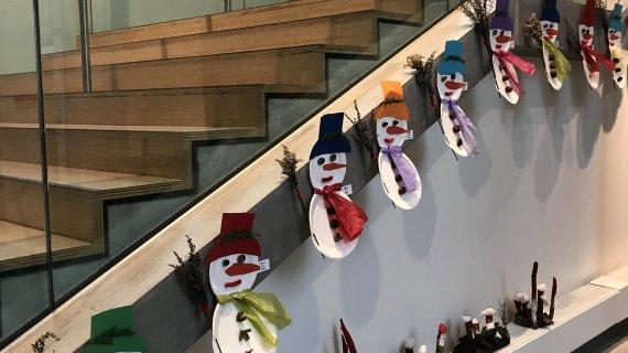 Trappe med julemænd
