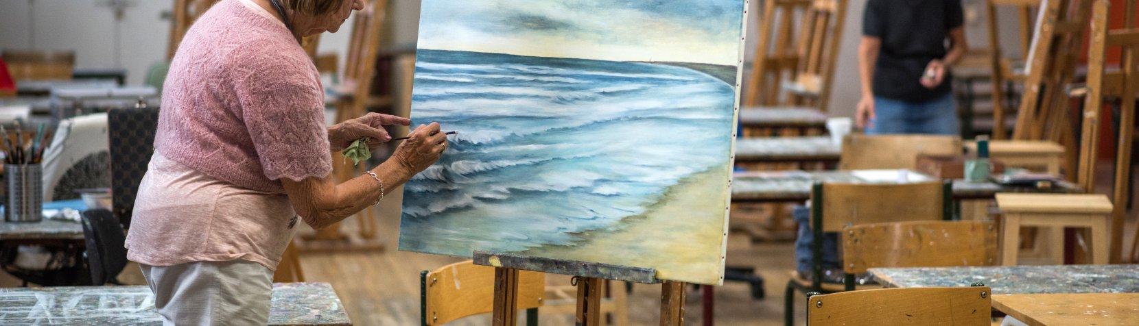 Malere i malersalen