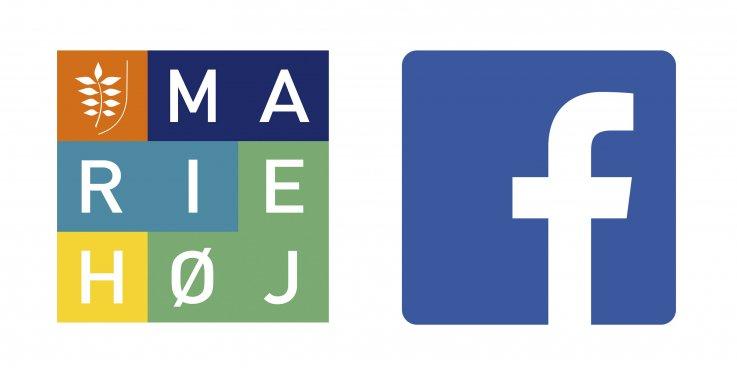 Mariehøj og facebook logo